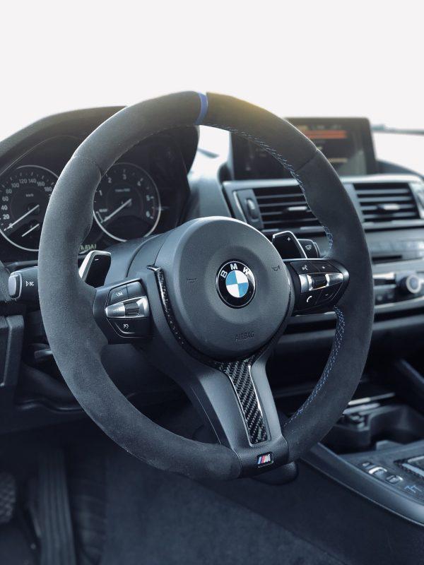 M Lenkrad BMW 1er Alcantara Blau